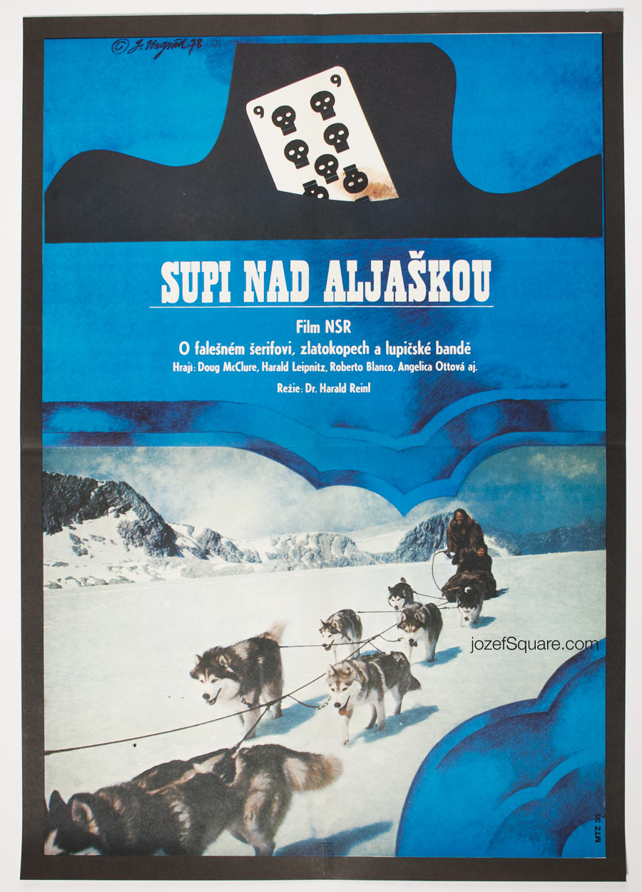 Movie Poster, Hell Hounds of Alaska, 70s Cinema Art