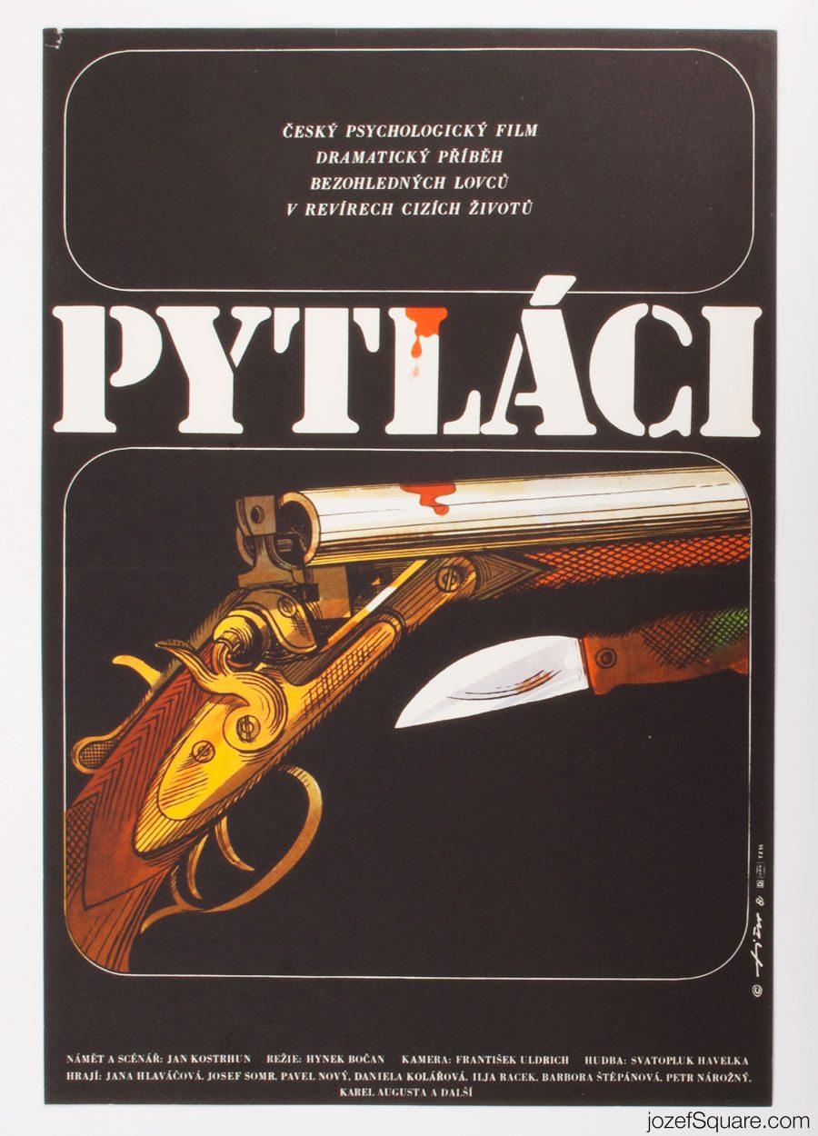 Movie Poster, The Poachers, 80s Cinema Art