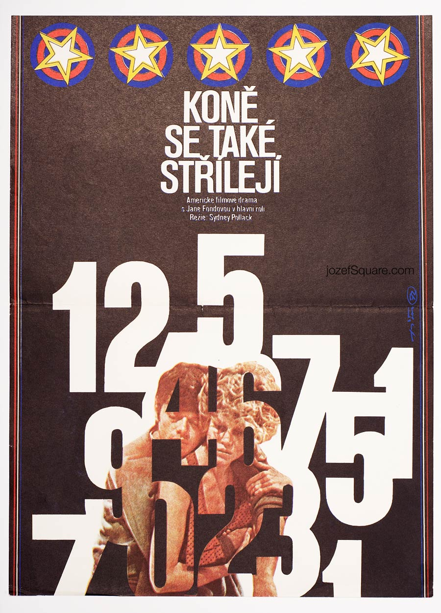 Movie Poster, They Shoot Horses, Don't They, 70s Cinema Art