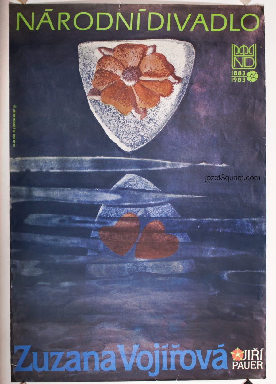 Theatre Poster, Jiri Rathousky, 80s Artwork