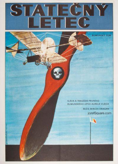 Movie Poster, The Daring Pilot Aurel Vlaicu, 80s Cinema Art