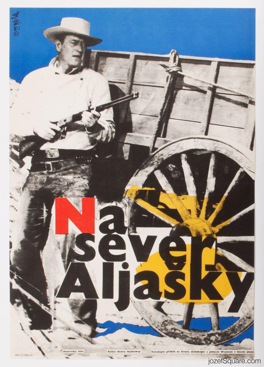 North to Alaska Movie Poster, John Wayne, 60s Western Cinema Art