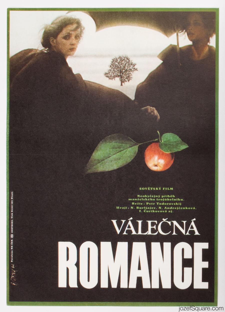Movie Poster, War-Time Romance, 80s Cinema Art