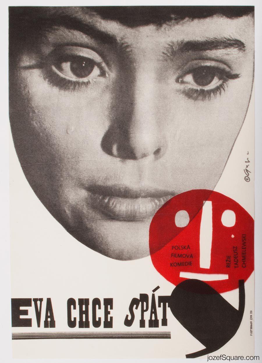 Movie Poster, Eve Wants to Sleep, 60s Polish Cinema