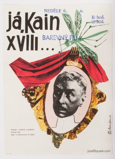Movie Poster, Cain the XVIII-th, 60s Cinema Art
