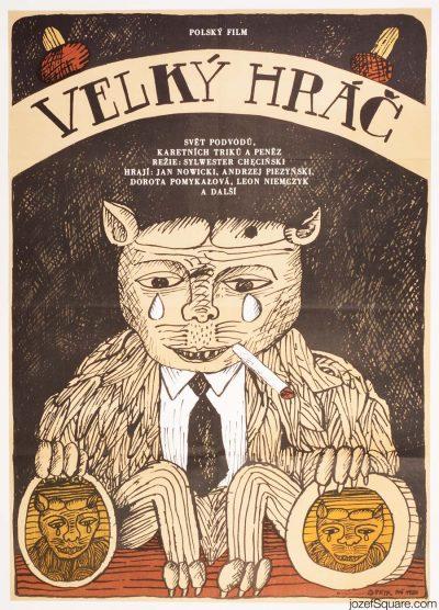Illustrated Movie Poster, Big Shar, 80s Cinema Art