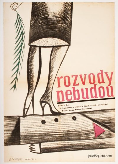 Movie Poster, No More Divorces, 60s Cinema Art