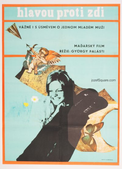 Movie Poster, A Lad on White Horse, 70s Cinema Art