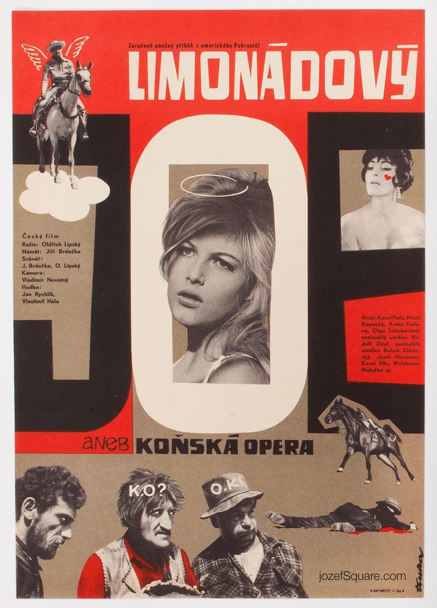 Movie Poster, Lemonade Joe, 60s Cinema Art