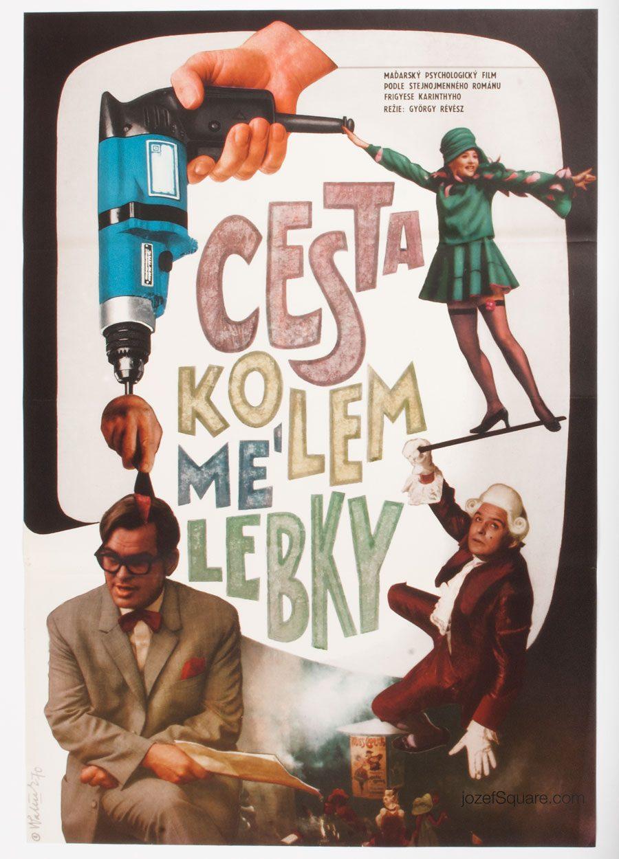 Movie Poster, A Journey Around My Skull, 70s Cinema Art