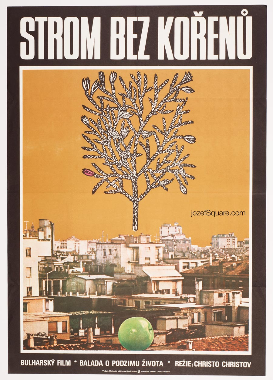 Movie Poster, A Tree Without Roots, 70s Cinema Art