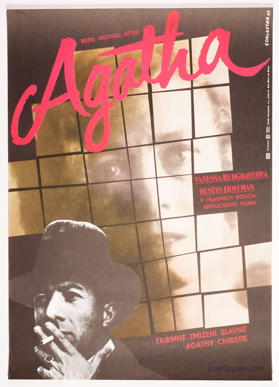 Movie Poster, Agatha, Michael Apted, 80s Cinema Art