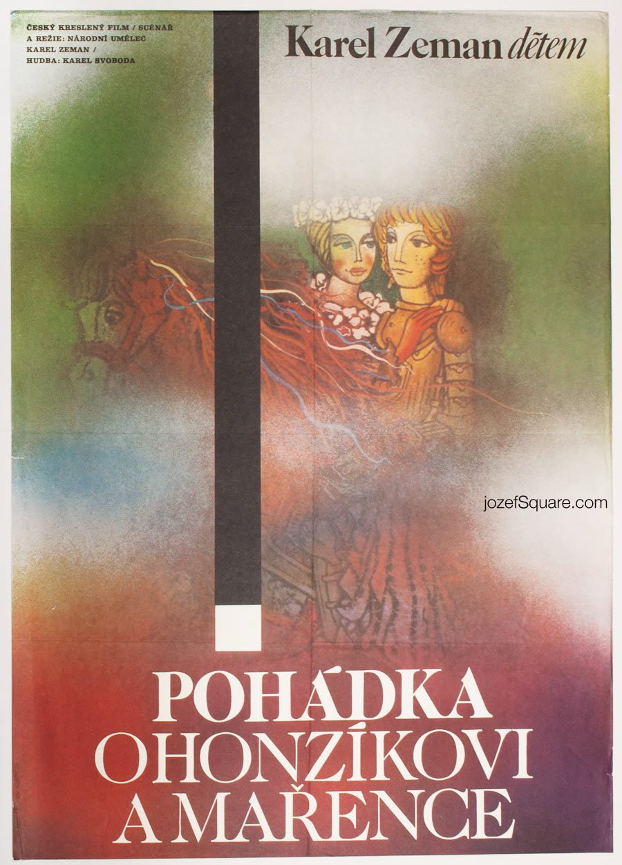 Kids Movie Poster, The Tale of John and Mary, Zdenek Ziegler