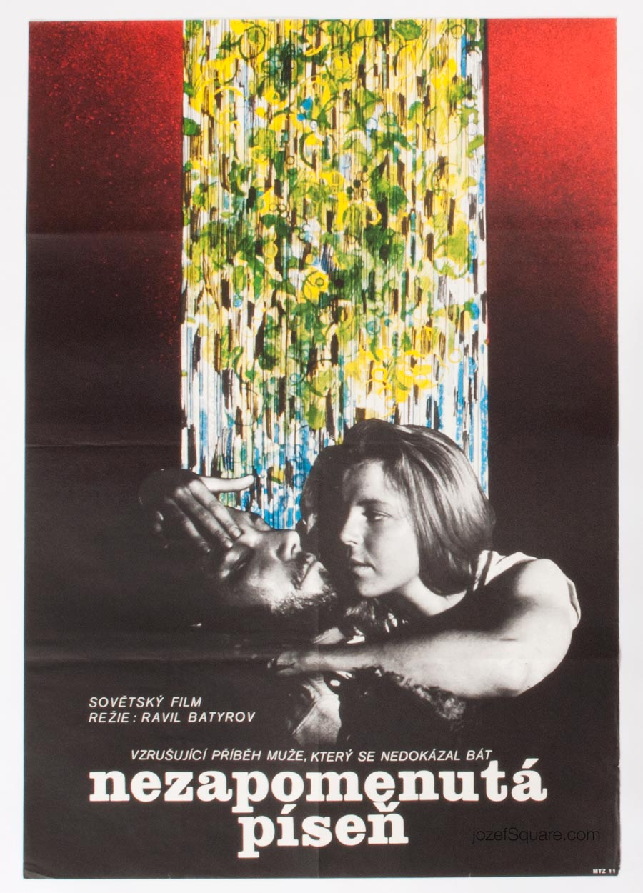 Movie Poster, The Unforgotten Song, 70s Cinema Art