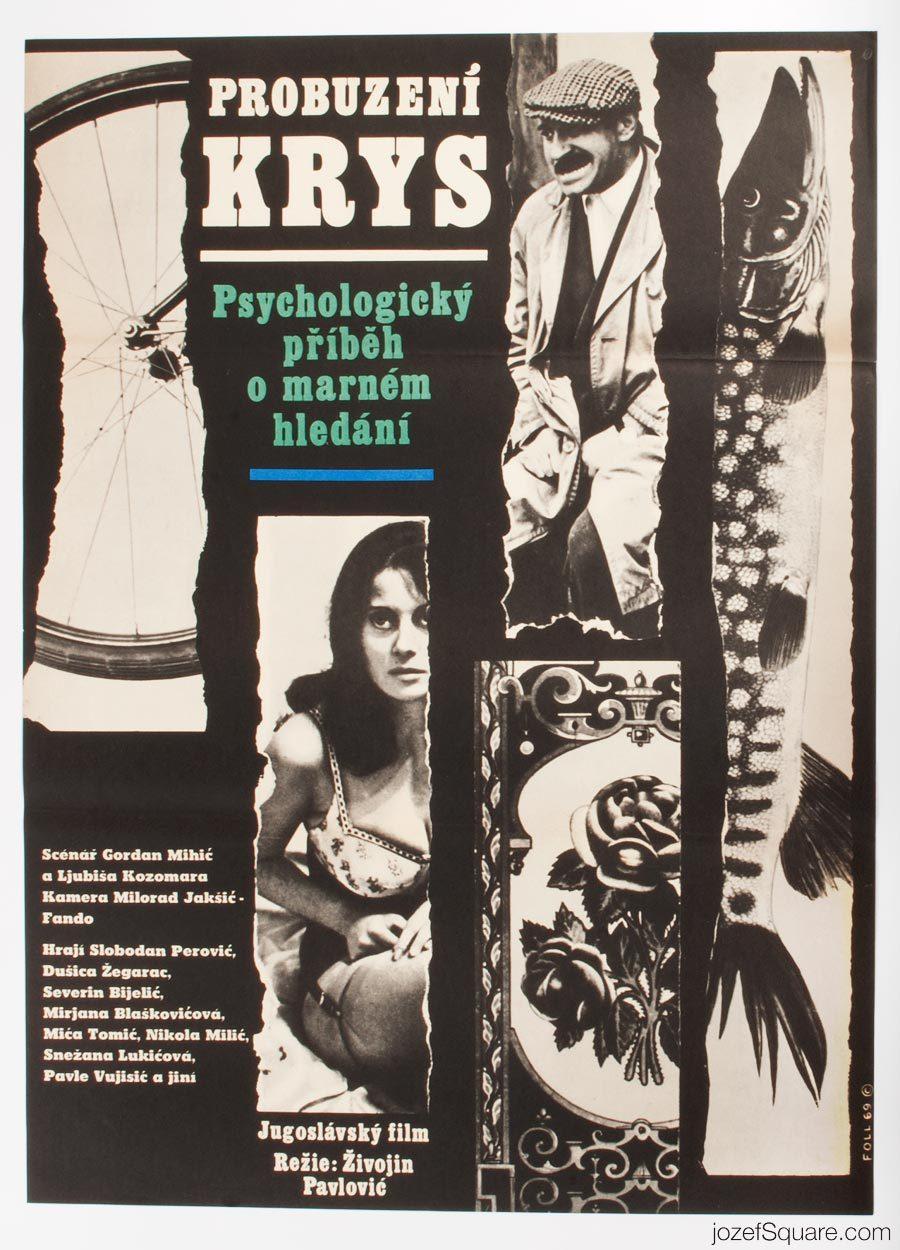 Movie Poster, The Rats Woke Up, 60s Cinema Art