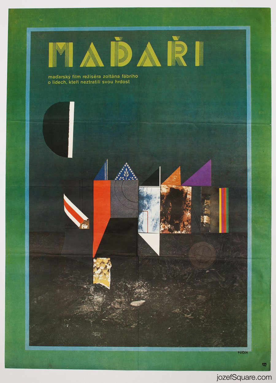 Hungarians Movie Poster, Zoltan Fabri, 70s Cinema Art