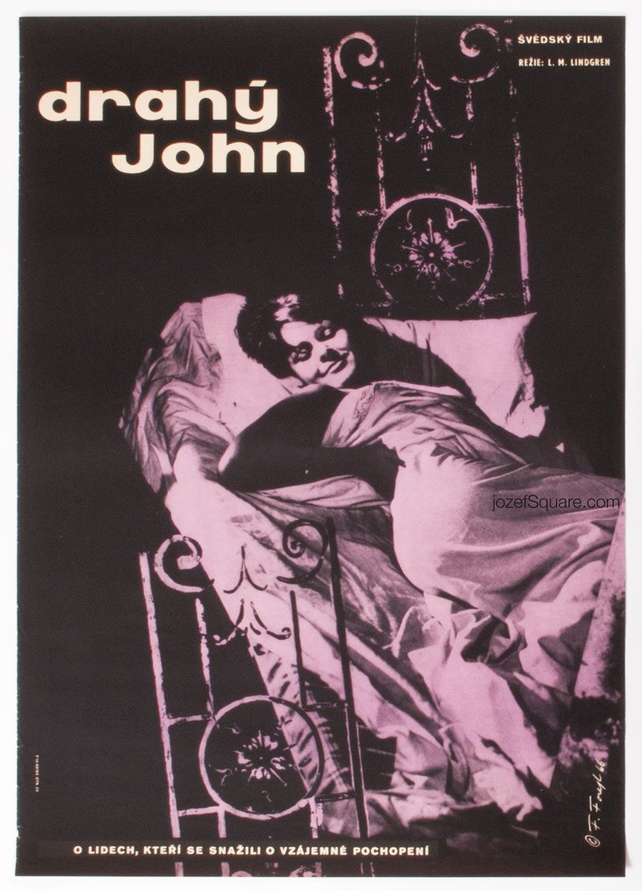 Movie Poster, Dear John, Frantisek Forejt, 60s Cinema Art