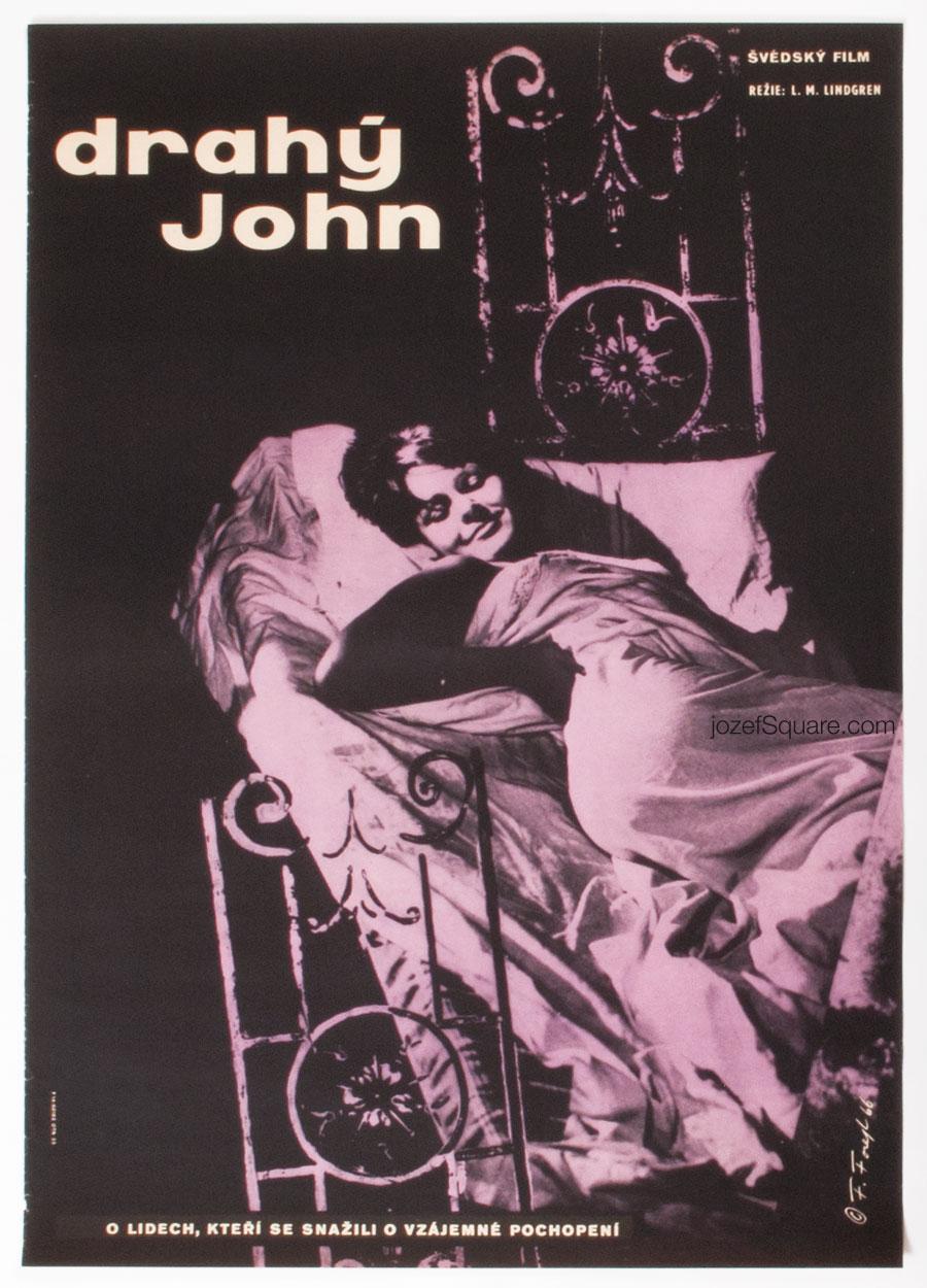 Movie Poster, Dear John, Frantisek Forejt, 60s Cinema Art