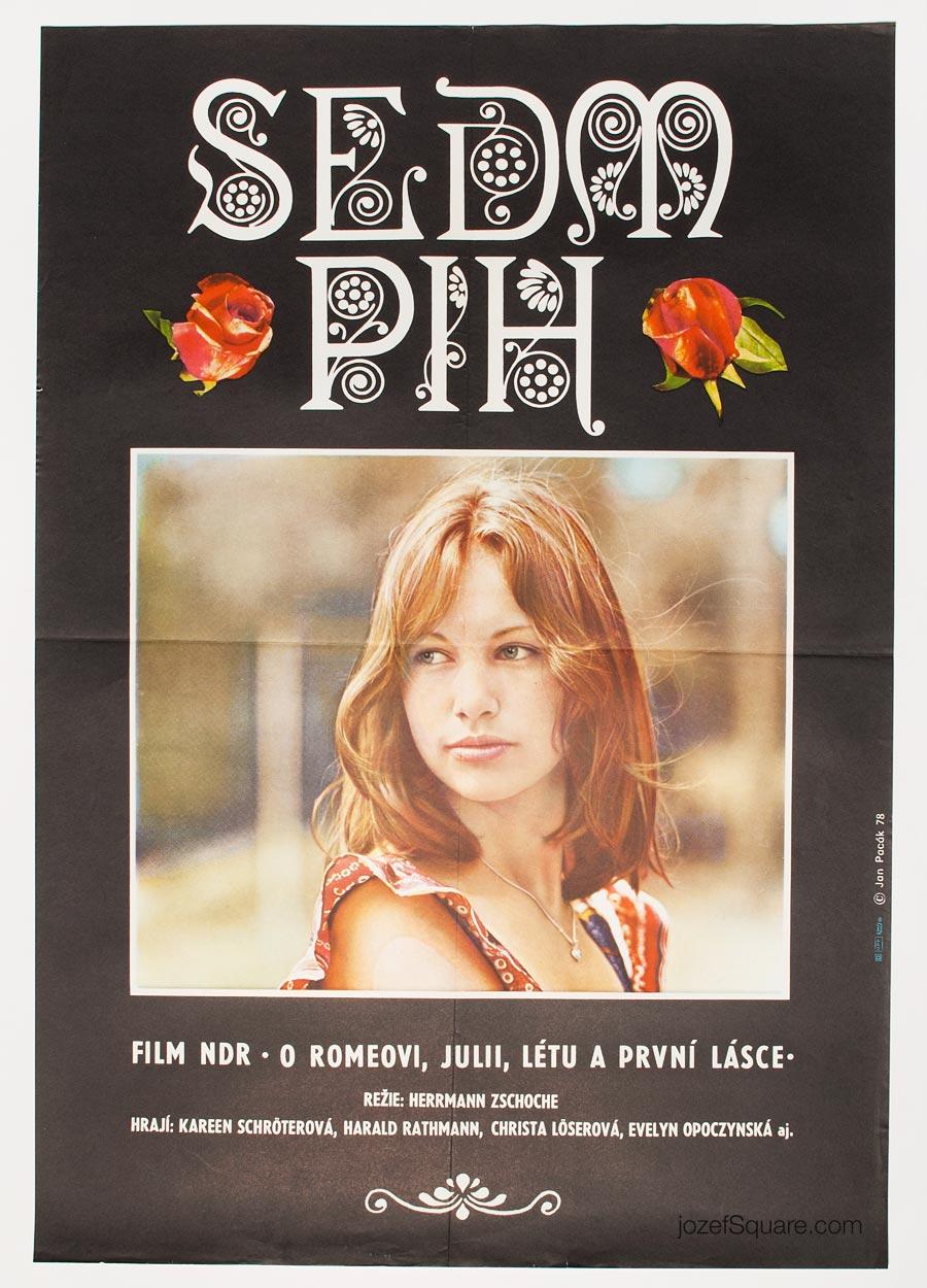 Movie Poster, Seven Freckles, 70s Cinema Art