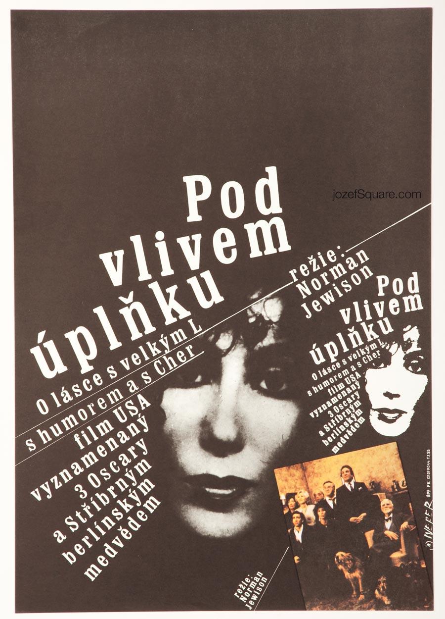 Moonstruck Movie Poster, Cher, 80s Cinema Art