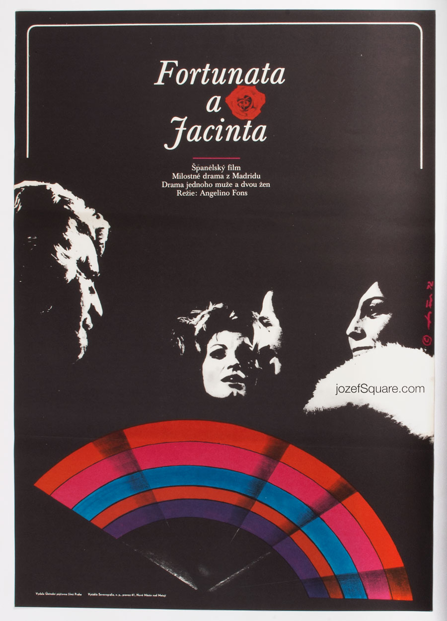 Fortunata and Jacinta, Movie Poster, 70s Cinema Art