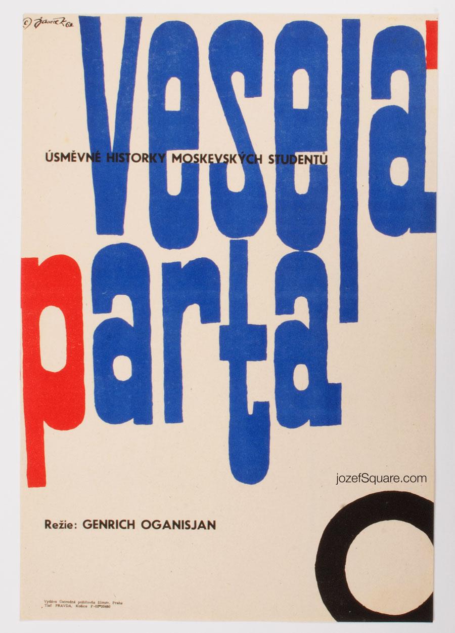 Movie Poster, Springtime on the Volga, 60s Cinema Art