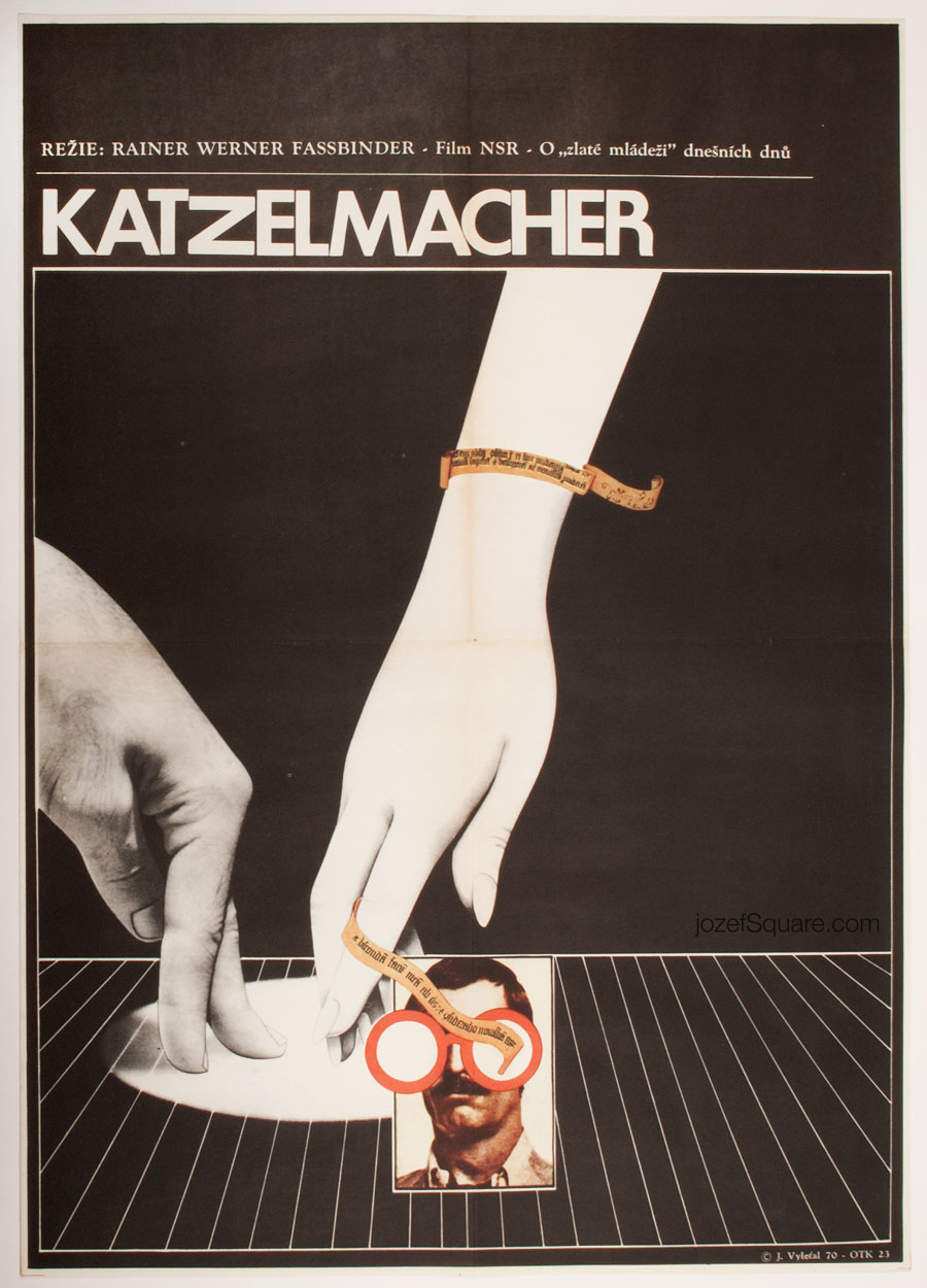 Katzelmacher Movie Poster, Rainer Werner Fassbinder, 60s Cinema Art