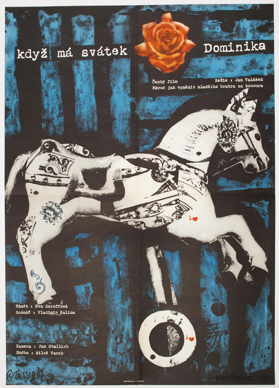 Movie Poster, Dominika's Name Day, 60s Karel Teissig