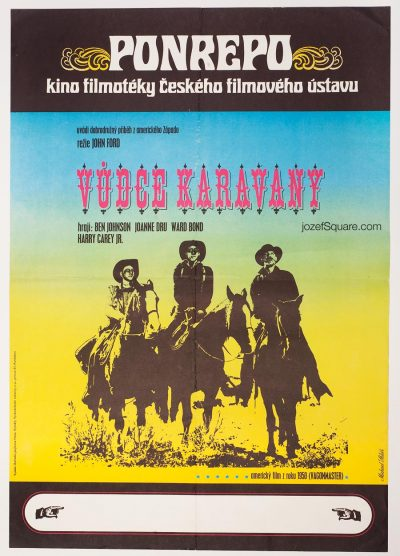 Wagon Master Movie Poster, Vintage Western Cinema Art