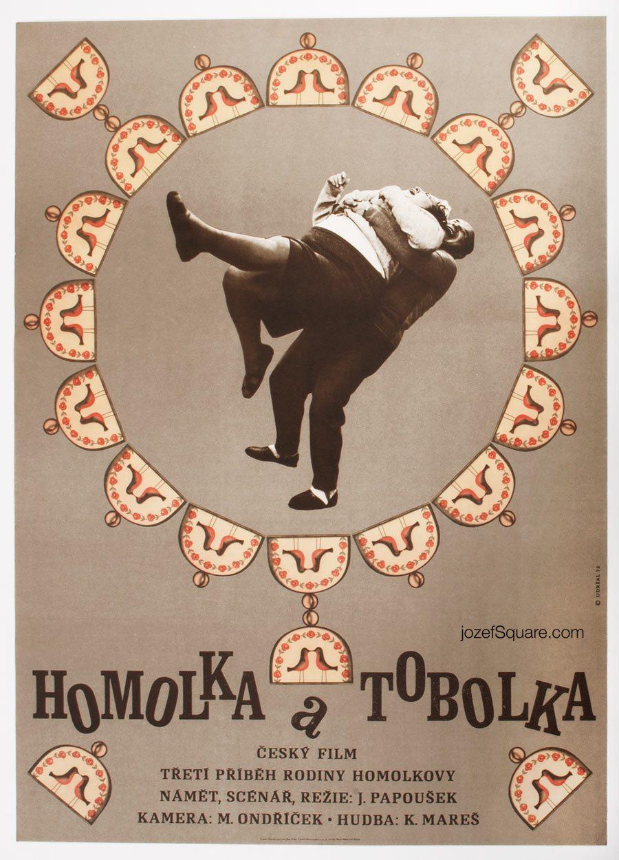Minimalist Movie Poster, Homolka and Pocketbook, 70s Cinema Art