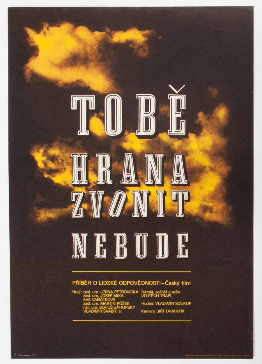 Movie Poster, The Bells Won't Toll for You, 70s Cinema Art