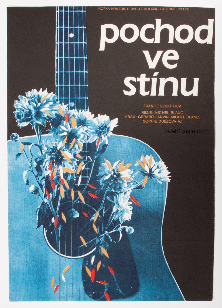Movie Poster, Walk in the Shadow, 80s Cinema Art