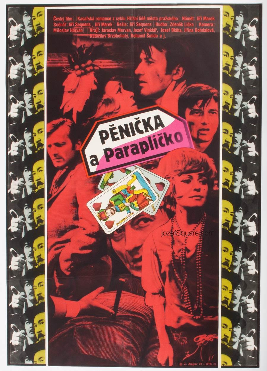Movie Poster, Burglar and Umbrella, Zdenek Ziegler