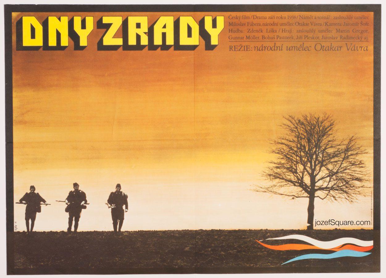 Movie Poster, Days of Betrayal, 70s Cinema Art