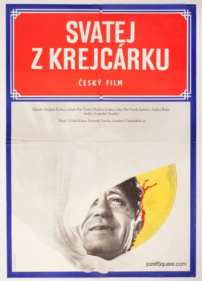 Movie Poster, Saint from Krejcárek, 60s Zdenek Ziegler