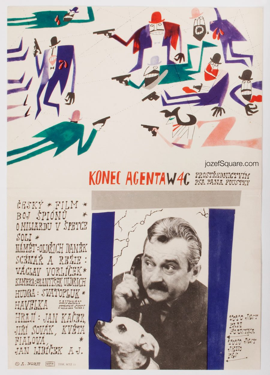 Movie Poster, The End of Agent W4C , Adolf Born, 60s Cinema Art