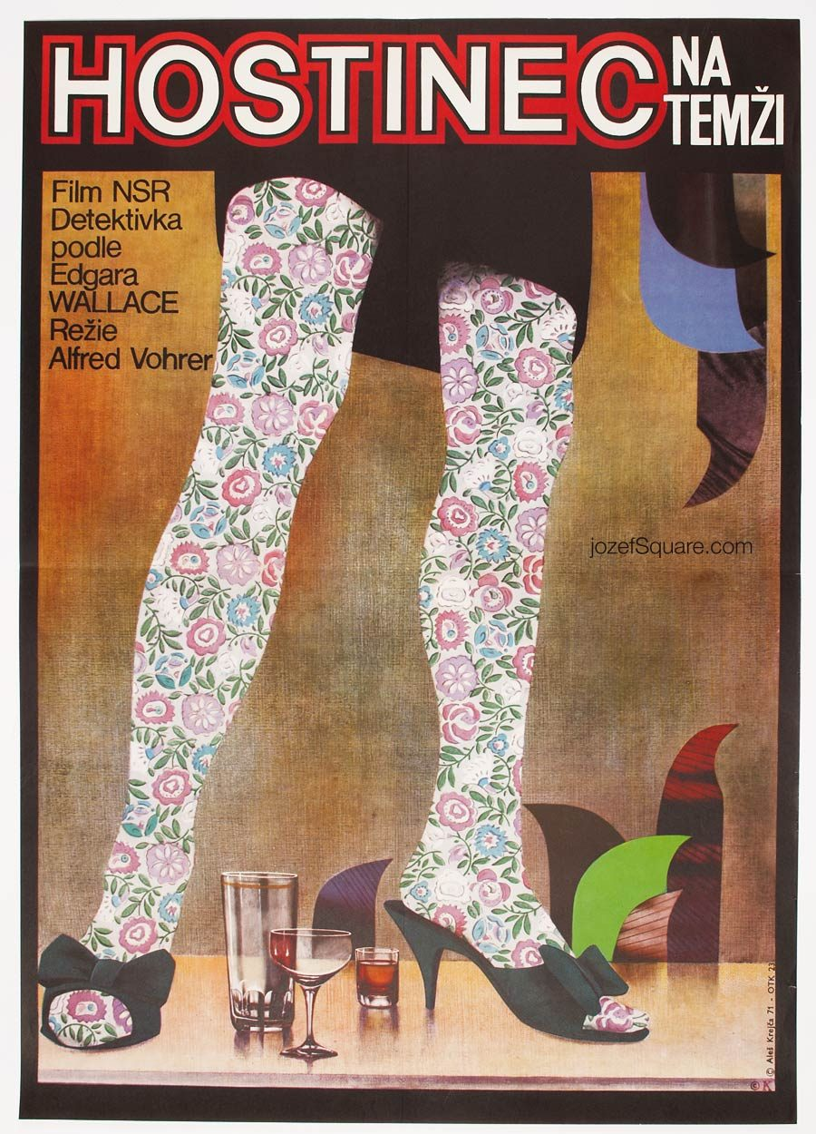 Movie Poster, The Inn on the River, 70s Collage Cinema Art