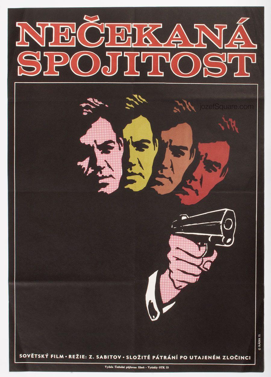 Movie Poster, Unexpectedly Close, 70s Cinema Art