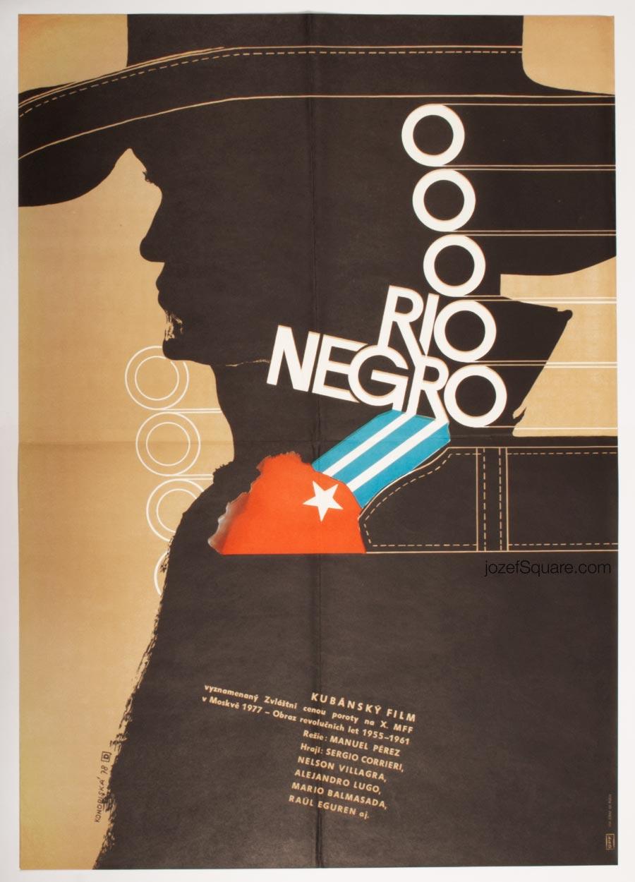 Movie Poster, Rio Negro, 70s Cuban Documentary