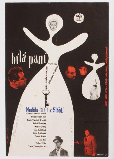 Movie Poster, The White Lady, 60s Cinema Art