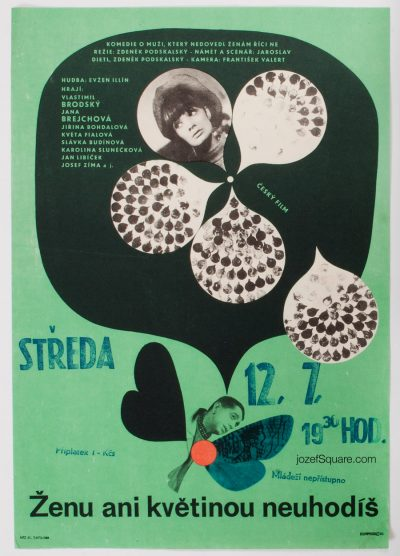 Movie Poster, You Don't Strike a Woman Even with a Flower, Jiri Hilmar