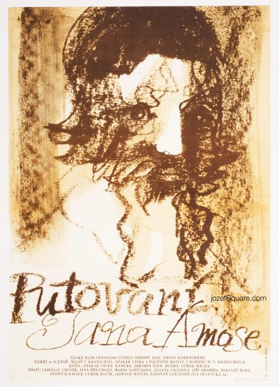 Movie Poster, The Wanderings of Jan Amos, 80s Cinema Art