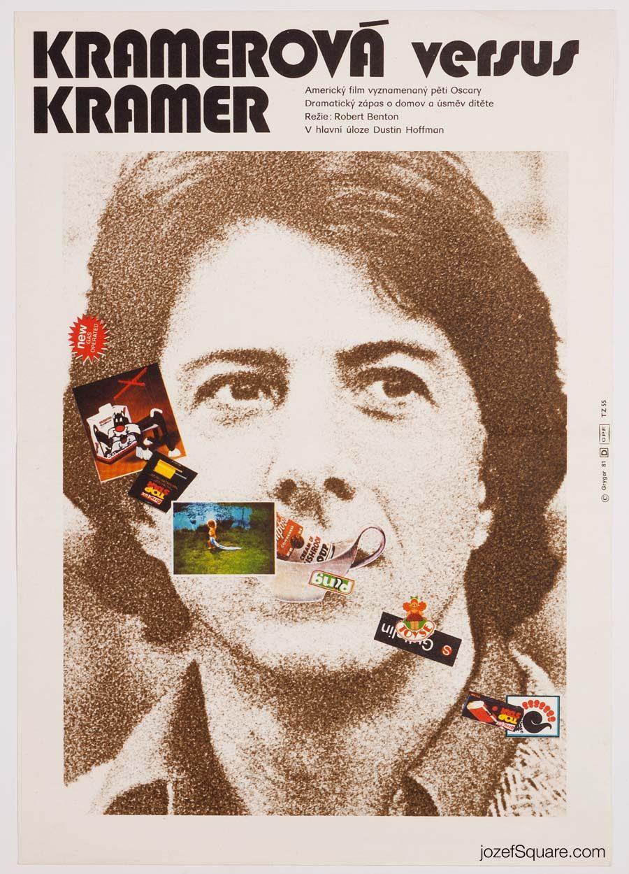 Movie Poster, Kramer vs. Kramer, 80s Cinema Art