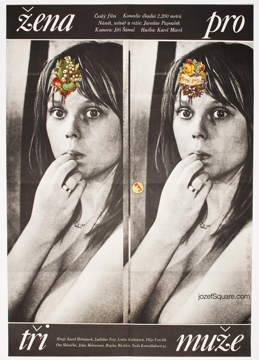 Movie Poster, Woman for Three Men, Milan Grygar