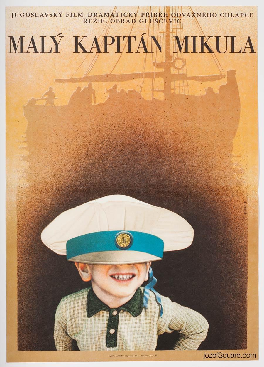 Movie Poster, Captain Mikula, the Kid, 70s Cinema Art