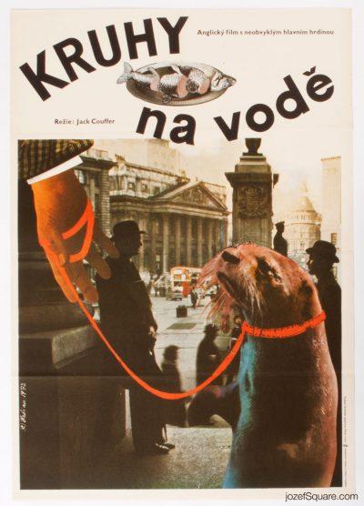 Movie Poster, Ring of Bright Water, 70s Cinema Art