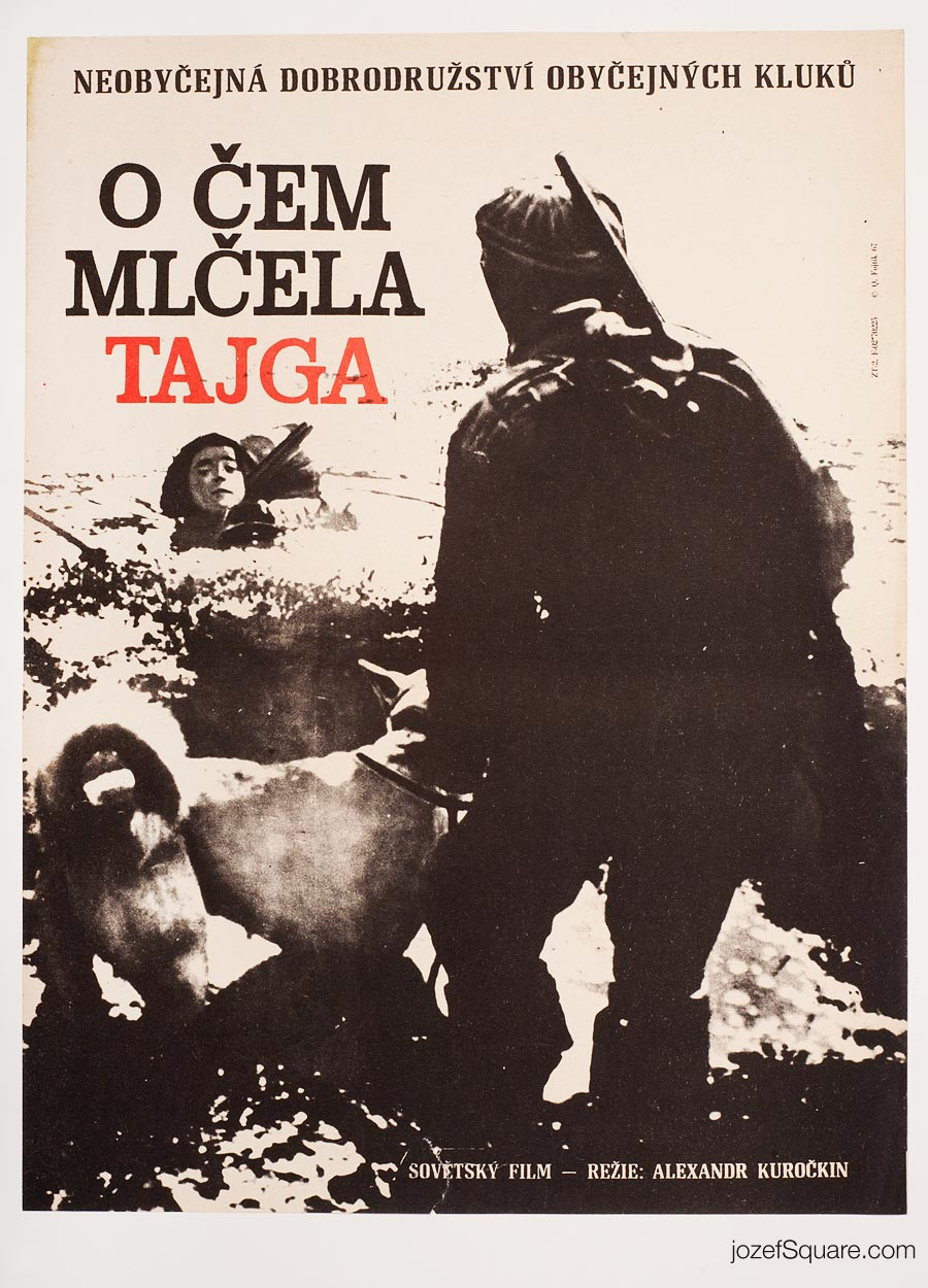 Movie Poster, The Tayga Was Silent, 60s Cinema Art