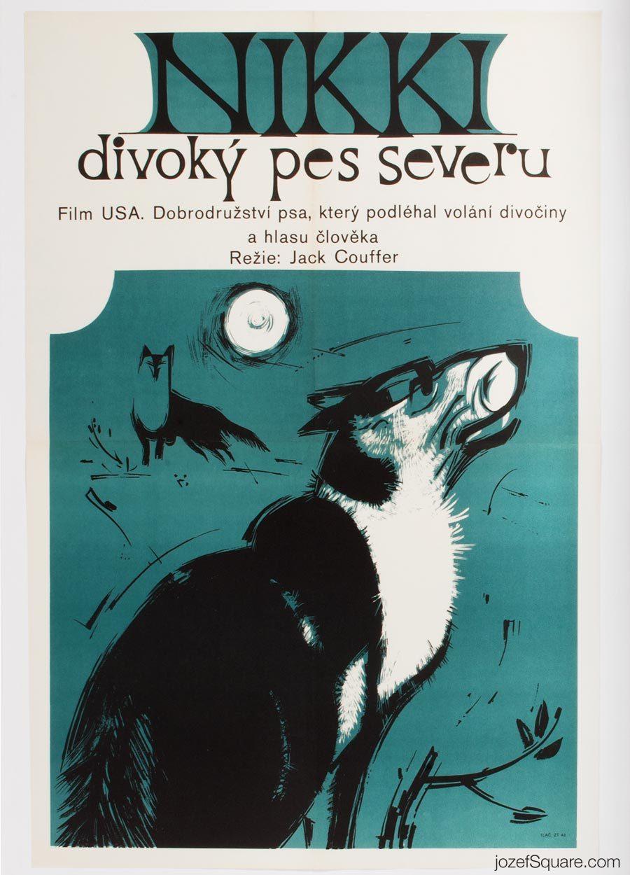 Movie Poster, Nikki, Wild Dog of the North, 70s Cinema Art