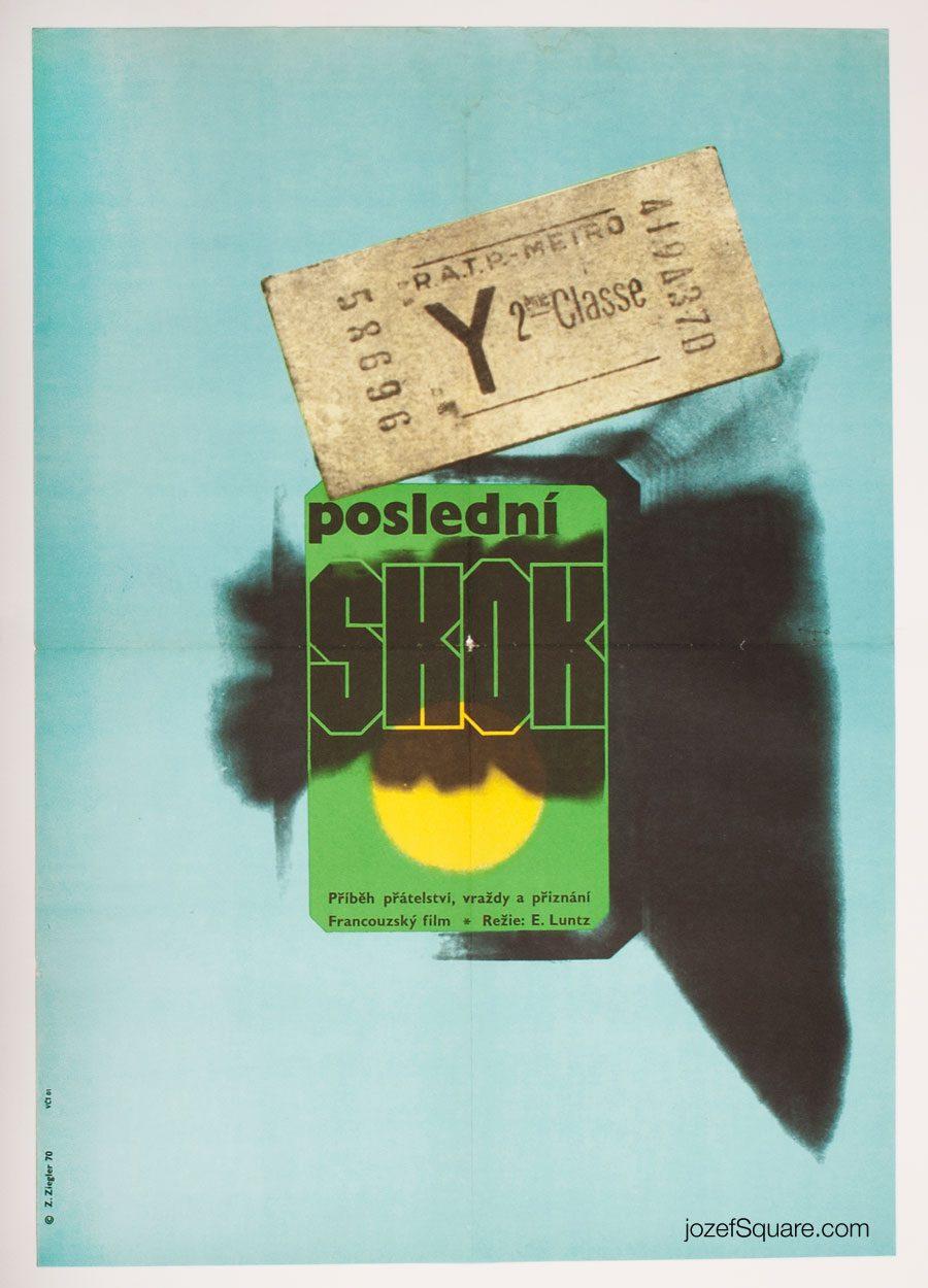 Movie Poster, Last Leap, 70s Cinema Art
