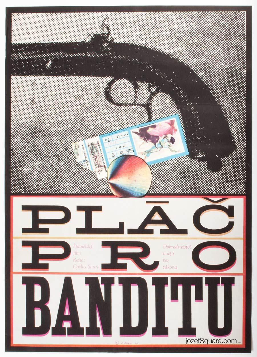 Movie Poster, Weeping for a Bandit, Zdenek Ziegler